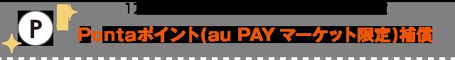 1万円以下なら、ポイント返金でスピード補償 「Pontaポイント(au PAY マーケット限定)補償」